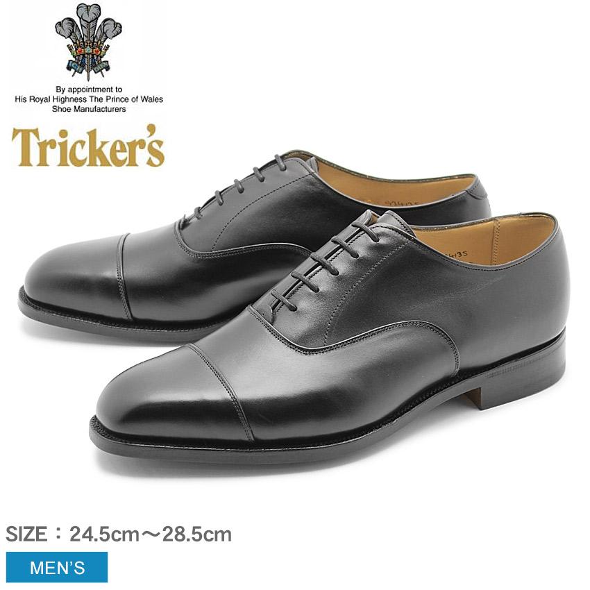 トリッカーズ TRICKER'S メンズ ストレートチップ リージェント シングルレザーソール TRICKERS ブラック 黒 本革 ベンチ ハンドメイド カジュアル 内羽 短靴 革靴 英国 靴 ロイヤルワラント 男性 (TRICKER'S 6140 REGENT) 送料無料