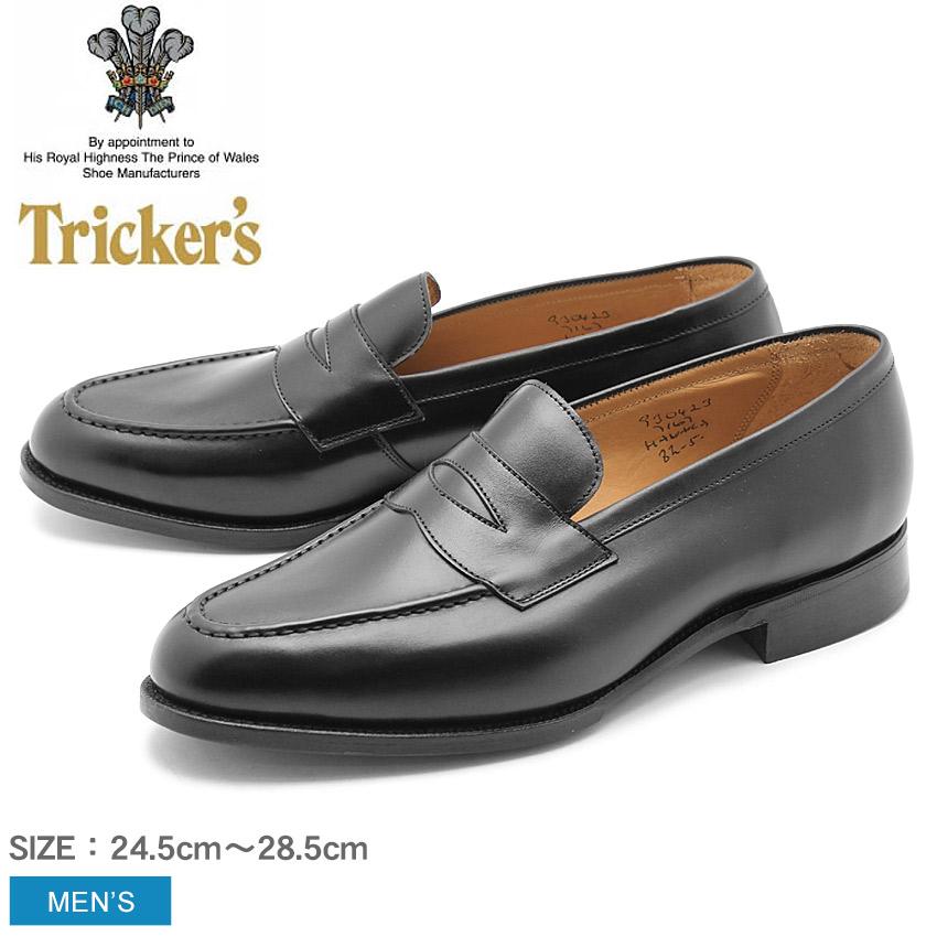 【クーポン配布!スーパーSALE】 トリッカーズ TRICKER'S HAVARD メンズ ローファー シングルレザーソール ブラックカーフ TRICKERS ブラック 黒 本革 ベンチ ハンドメイド カジュアル 革靴 英国 靴 ロイヤルワラント (TRICKER'S 7167)