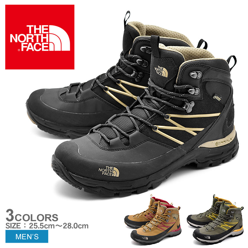 c26023936 The North Face THE NORTH FACE trekking shoes Creston mid Gore-Tex men black  brown red green black red mountain climbing trekking hiking outdoor shoes  ...