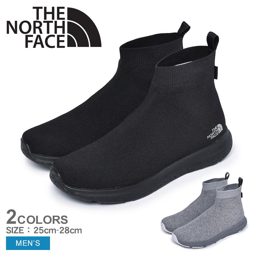 ザ ノースフェイス THE NORTH FACE ベロシティニット ミッド ゴアテックスインビジブルフィット ブーツ メンズ ブラック グレー 黒 靴 シューズ カジュアル アウトドア スポーツ 運動 軽量 防水 雨 VELOCITY KNIT MID GORE-TEX INVISIBLE FIT NF51997