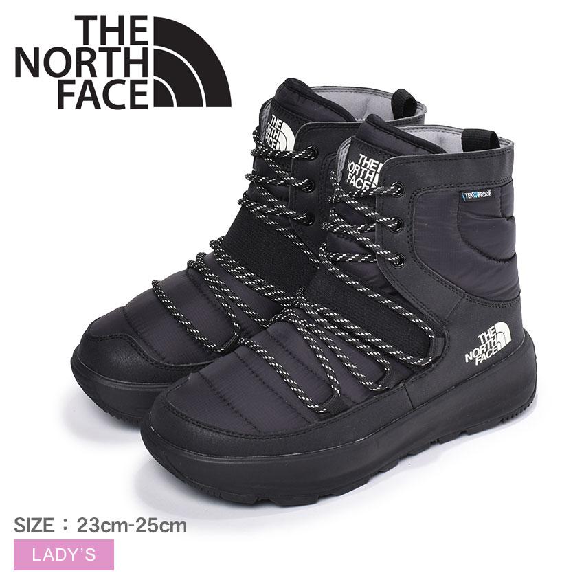 THE NORTH FACE ザ ノースフェイス アプレレース スノーブーツ レディース ブラック 黒 靴 シューズ ウィンターブーツ ノースフェース カジュアル アウトドア タウンユース シンプル 靴 運動 軽量 保温 防水 撥水 おしゃれ APRES LACE NF51881