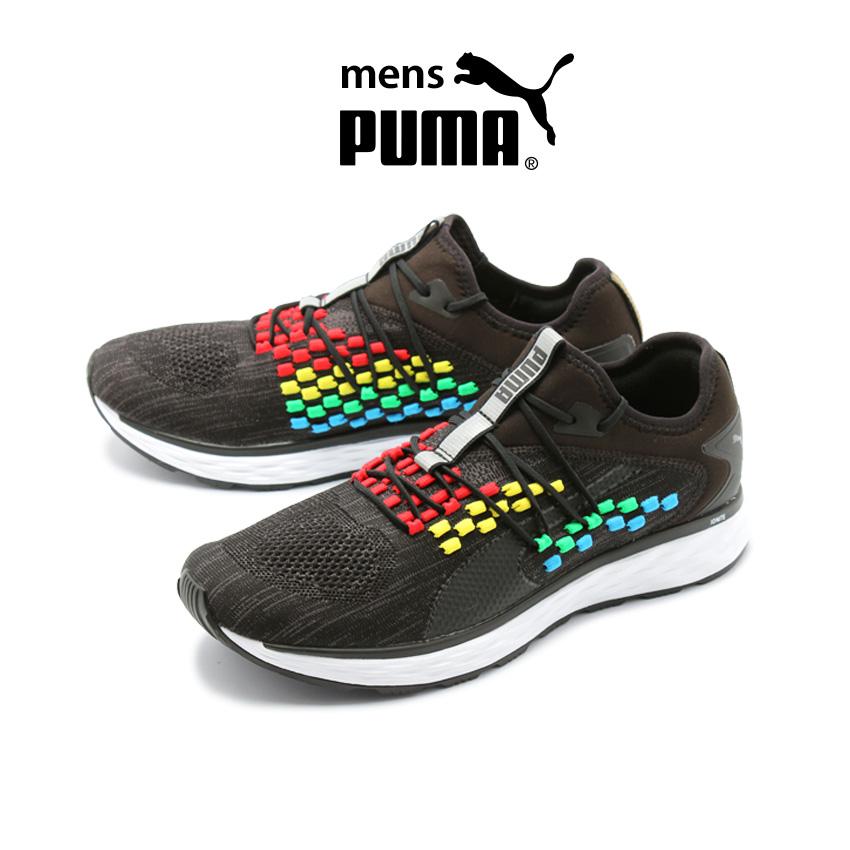 プーマ PUMA メンズ ランニングシューズ スピード 600 フューズフィット ヒートマップ ジョギング マラソン トレーニング ジム フイットネス スニーカー シューズ 練習 靴 ブラック 黒 SPEED 600 FUSEFIT HEAT MAP 192518 01 送料無料