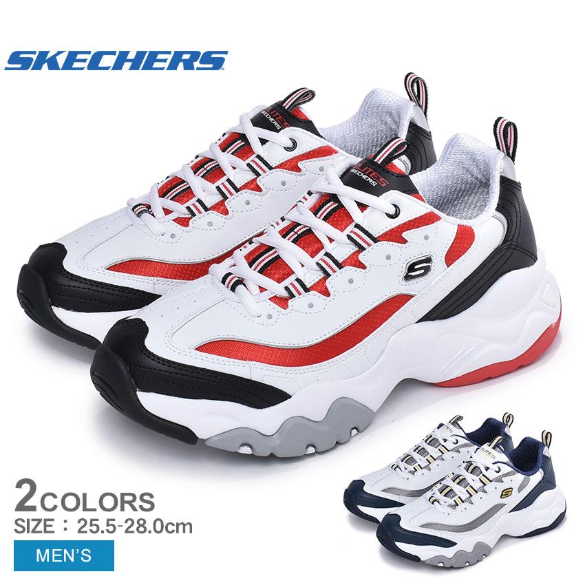 【年末年始セール中】 スケッチャーズ SKECHERS ディライト 3.0 メリットン スニーカー メンズ ホワイト 白 靴 シューズ スポーティ カジュアル ダッドシューズ レースアップ 厚底 ディーライト D LITES 3.0 MERRITON 52684 送料無料