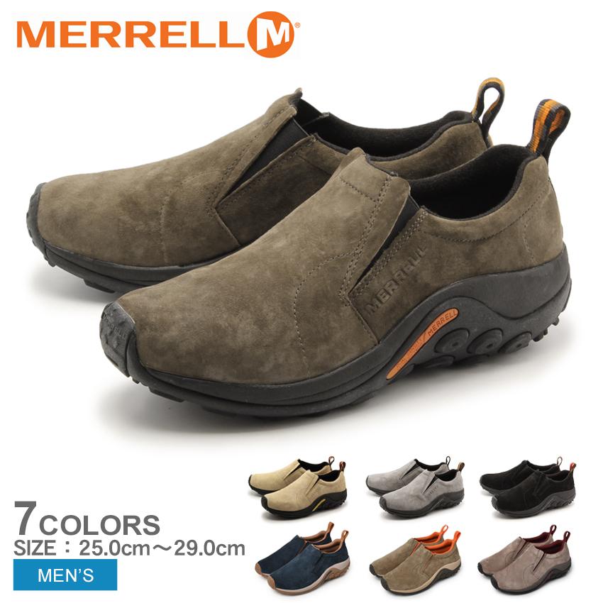 メレル MERRELL ジャングルモック 全4色 (merrell J60801 J60787 J60805 J60825 JUNGLE MOC) メンズ(男性用) アウトドア シューズ スニーカー スリッポン 天然皮革 本革 送料無料