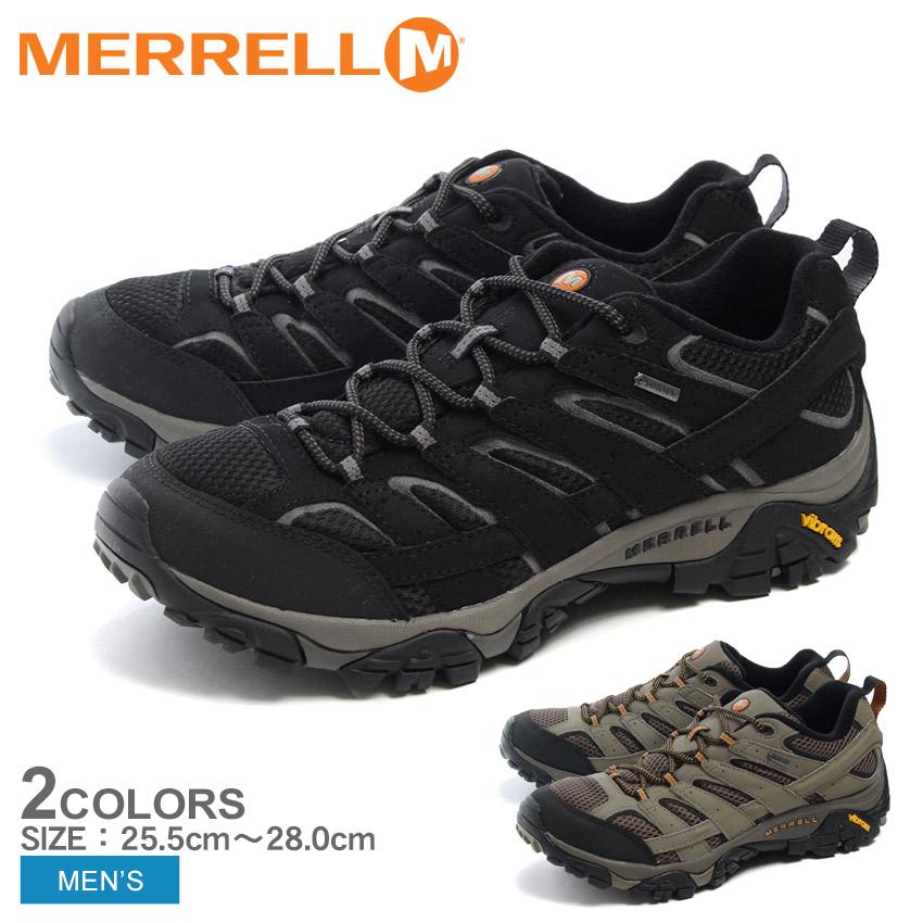 【クーポン配布!スーパーSALE】 メレル MERRELL カジュアルシューズ モアブ2 ゴアテックス メンズ ブラック ブラウン 黒 靴 シューズ アウトドア トレッキング 登山 スポーツ 運動 MERRELL J060 35 37 MOAB 2 GORE-TEX