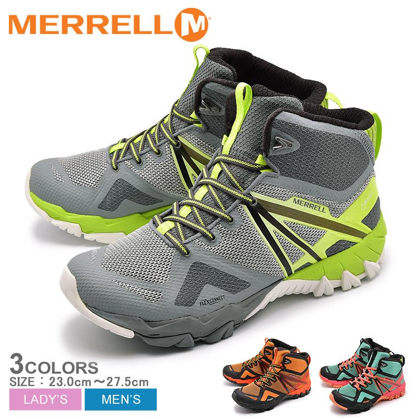 メレル MERRELL MQM フレックス ミッド ゴアテックス トレッキングシューズ メンズ レディース グレー オレンジ グリーン ブラック 黒 緑 ハイカット 登山 ハイキング シューズ 靴 男性 女性 MQM FLEX MID GORE-TEX J98297 J98299 J98268 送料無料