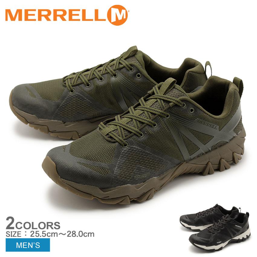 メレル MERRELL MQM フレックス ルナ トレッキングシューズ メンズ アウトドア トレッキング 登山 ハイキング 防水 シューズ 靴 ブラック ホワイト カーキ 黒 白 MQM FLEX LUNA J32897 J32901 送料無料