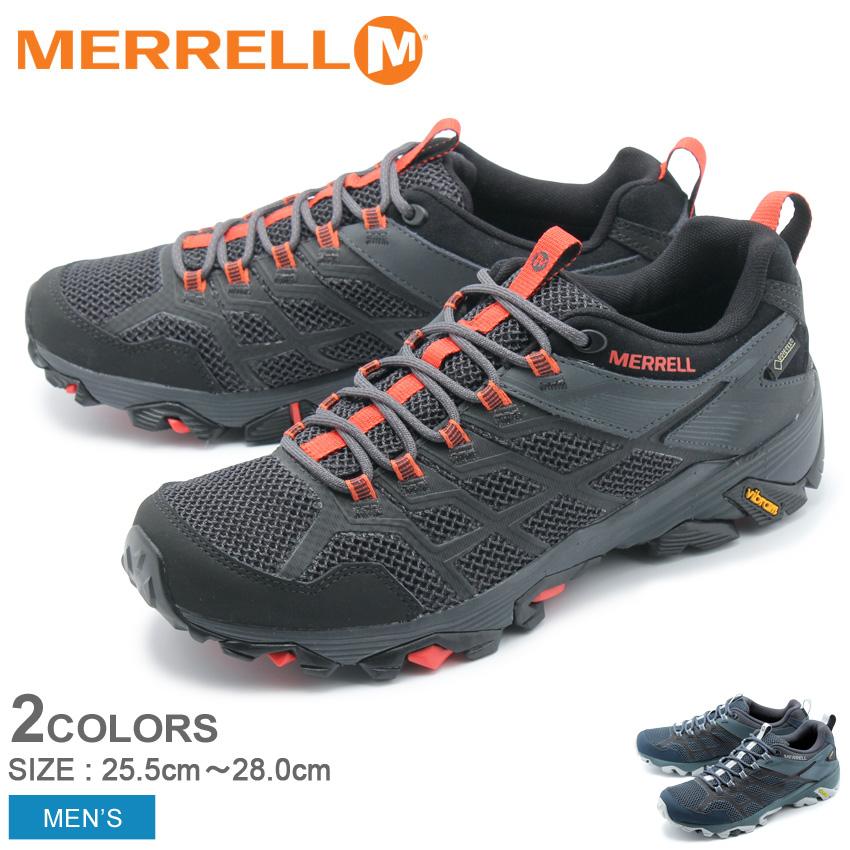 メレル MERRELL メンズ トレッキングシューズ モアブ FST2 ゴアテックス アウトドア トレッキング 登山 ハイキング 防水 シューズ 靴 ブラック ネイビー ブルー 黒 青 MOAB FST2 GORE-TEX 77443 77453