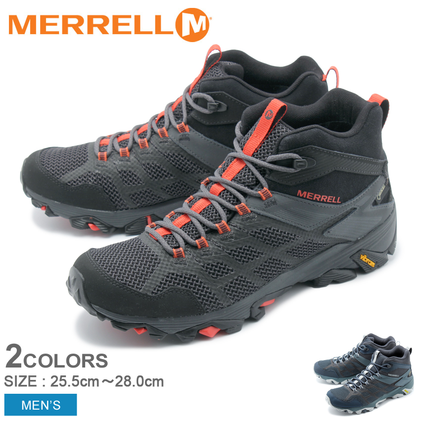 【クーポン配布!スーパーSALE】 メレル MERRELL メンズ トレッキングシューズ モアブ FST2 ミッド ゴアテックス アウトドア トレッキング 登山 ハイキング 防水 シューズ 靴 ブラック グレー 黒 MOAB FST2 MID GORE TEX 77485 77495