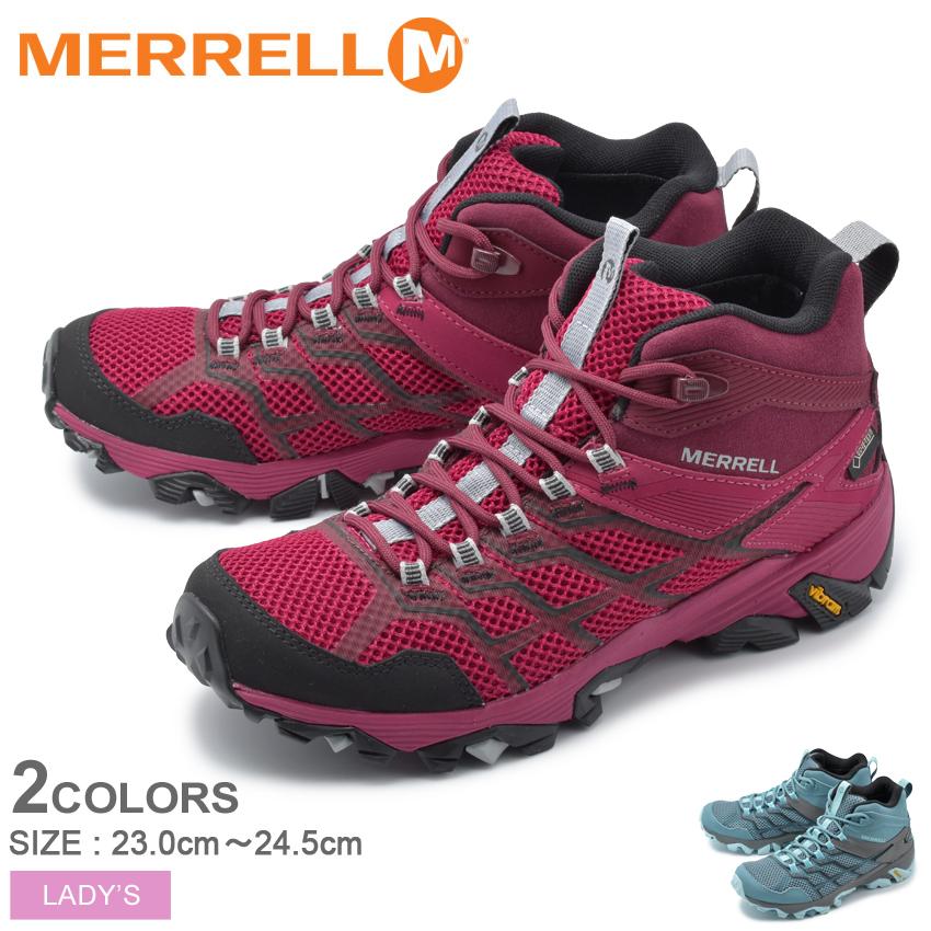 メレル MERRELL トレッキングシューズ モアブ FST2 ミッド ゴアテックス アウトドア トレッキング 登山 ハイキング 防水 シューズ 靴 MOAB FST2 MID GORETEX 49182 84570 レッド ブルー 赤 青 レディース 送料無料