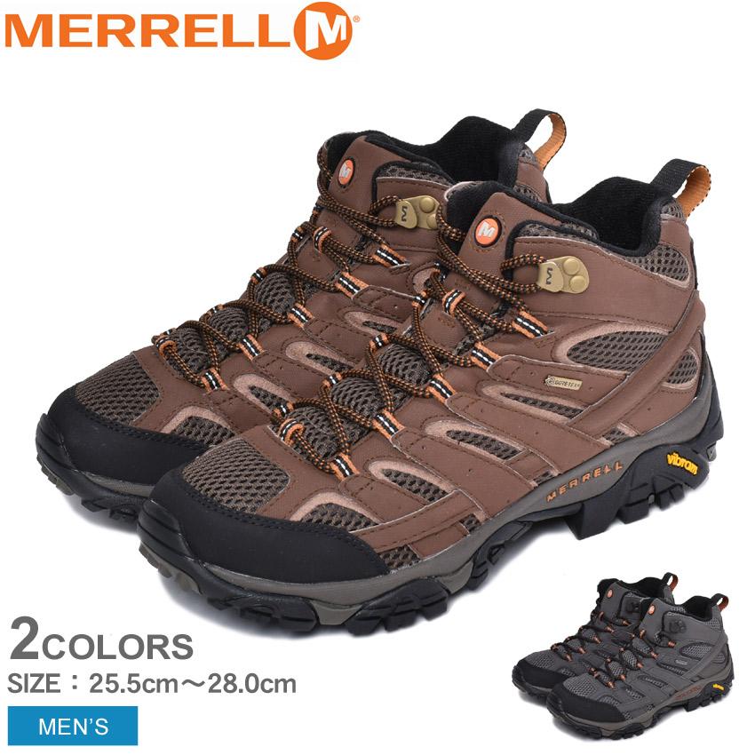 メレル MERRELL モアブ 2 ミッド ゴアテックス トレッキングシューズ メンズ ブラウン グレー 靴 シューズ スニーカー アウトドア ハイキング トレッキング スポーツ ミッドカット 運動 登山 山登り 防水 雨 MOAB 2 MID GORE-TEX J06059 J06063
