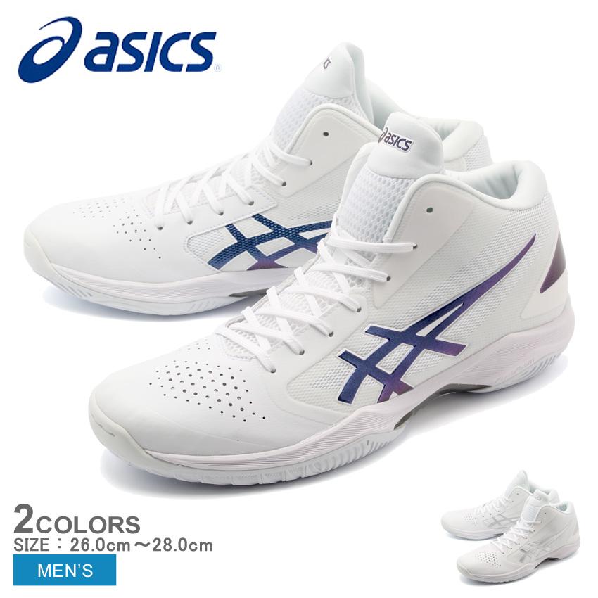 アシックス ASICS GELHOOPV 10-SLIM バスケットボールシューズ メンズ ホワイト ブルー 白 青 バッシュ トレーニング バスケ 練習 室内履き シューズ 靴 TBF341 193 154 送料無料