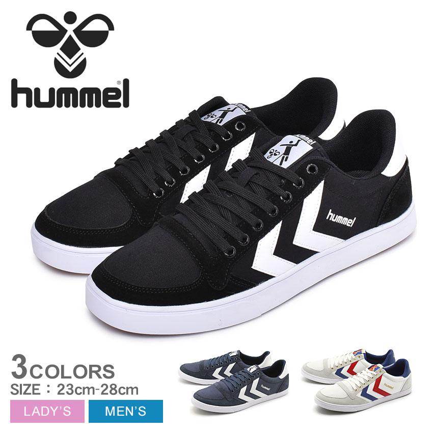 【年末年始セール中】 送料無料 ヒュンメル HUMMEL メンズ レディース スニーカー スリマー スタディール キャンバス LOW ホワイト ブラック ネイビー 白 黒 靴 シューズ ローカット スポーツ 運動 女性 HUMMEL SLIMMER STADIL CANVAS LOW HM63112K 7674 9228