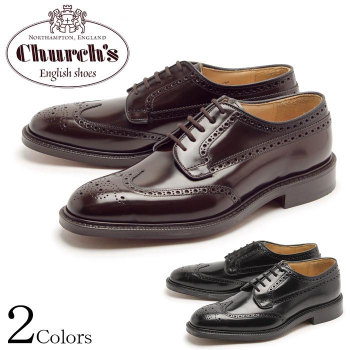 チャーチ CHURCHS グラフトン ウイングチップ シューズ メンズ ブラック ライトエボニー ブラウン 黒 短靴 靴 紳士靴 ビジネス カジュアル ドレス 外羽根 レザーソール 男性 GRAFTON 7869-51 7869-57 BLACK EBONY 送料無料