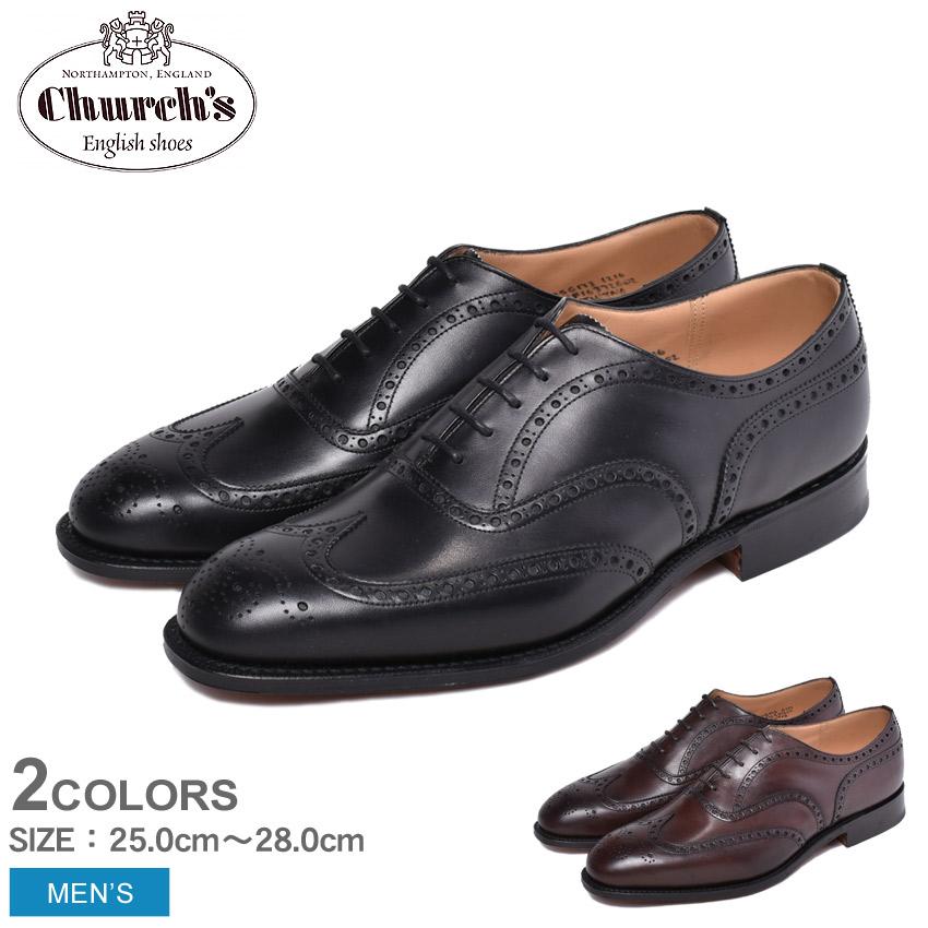 チャーチ CHURCHS チェットウィンド CHETWYND ウィングチップ 黒 ブラック 茶 ブラウン 靴 男性 牛革 レザー 短靴 革靴 メンズ フォーマル カジュアル イギリス ドレスシューズ オックスフォード EEB007 F0AEV F0AAB