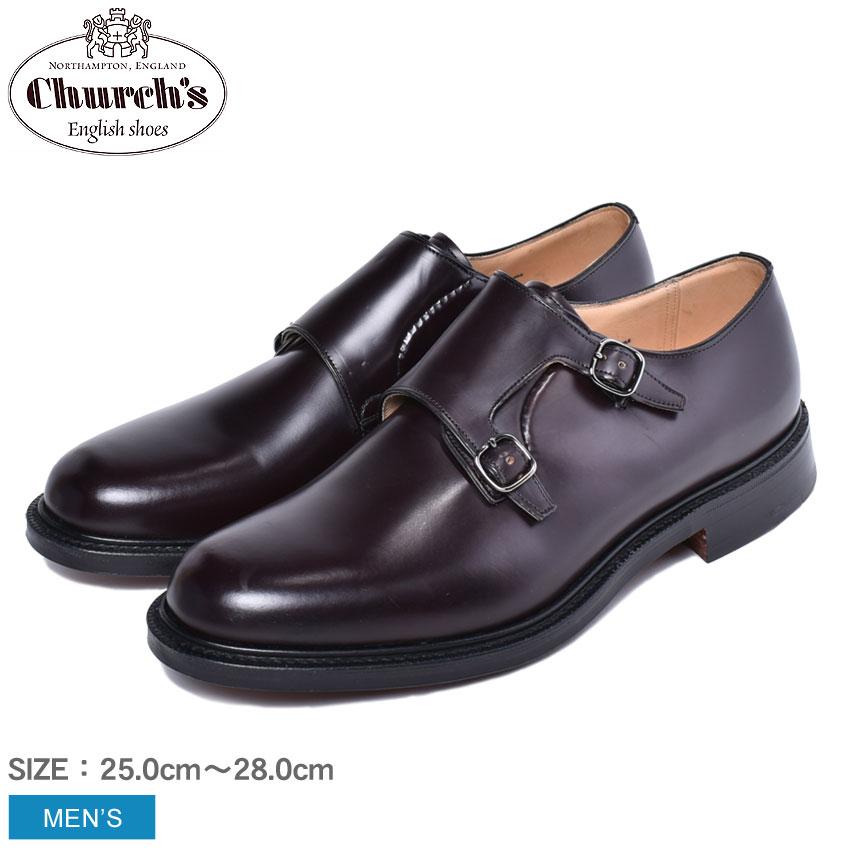 チャーチ CHURCHS ランボーン ドレスシューズ 靴 男性 牛革 レザー 短靴 革靴 バーガンディー 赤 ランボーン ダブルモンク モンクストラップ フォーマル カジュアル ドレスシューズ LAMBOURN 6170 54 トリプルソール