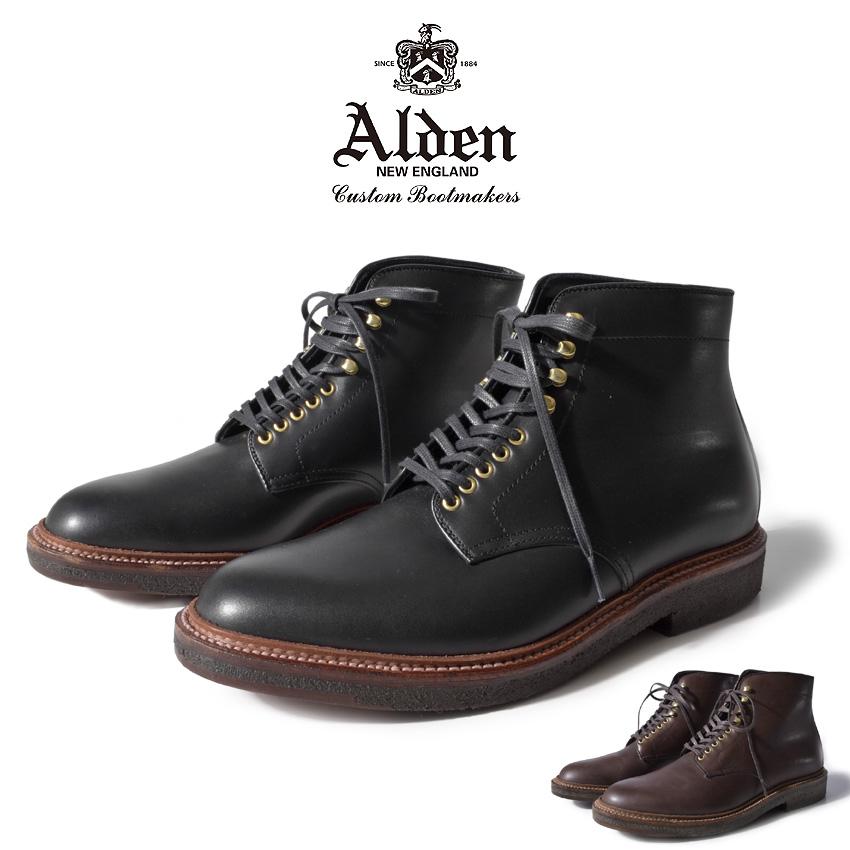 【クーポン配布!スーパーSALE】 ALDEN オールデン ブーツ 全2色 プレーン トゥ ブーツ PLAIN TOE BOOTS 4515H 4513H メンズ