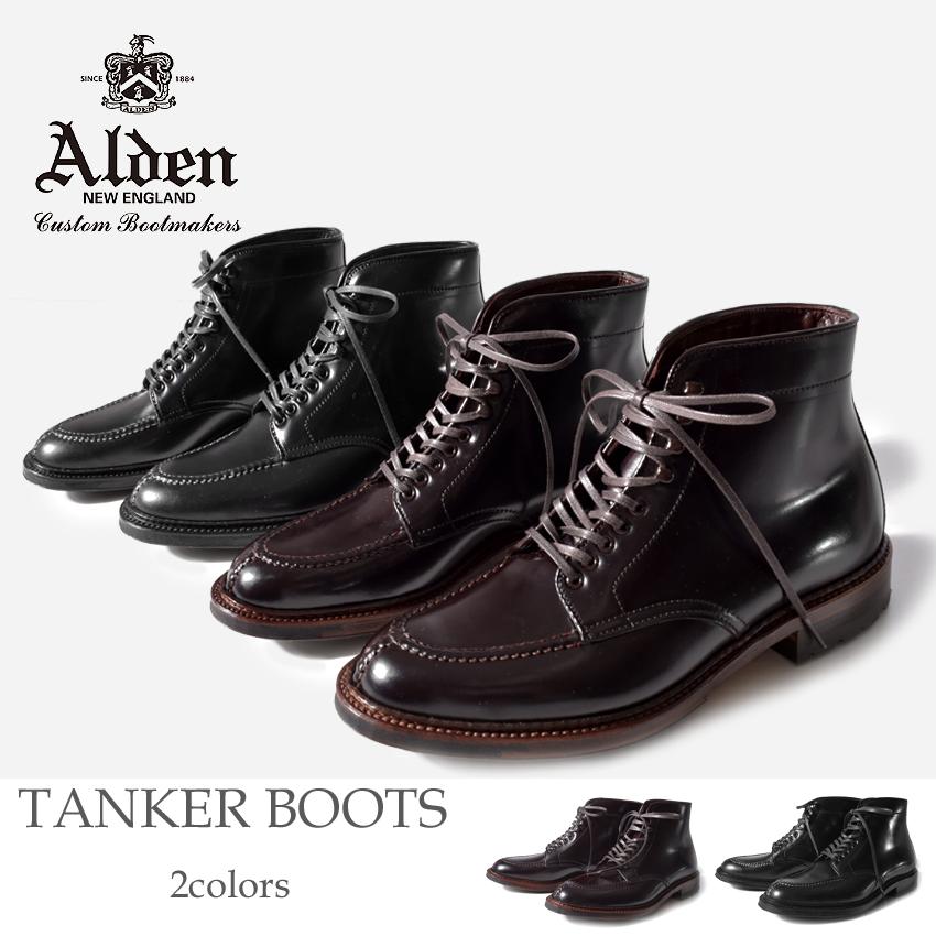 オールデン ALDEN コードバン タンカー ブーツ メンズ ブラック バーガンディー 黒 レースアップ Uチップ TANKER BOOTS 40218HC 40219HC 送料無料