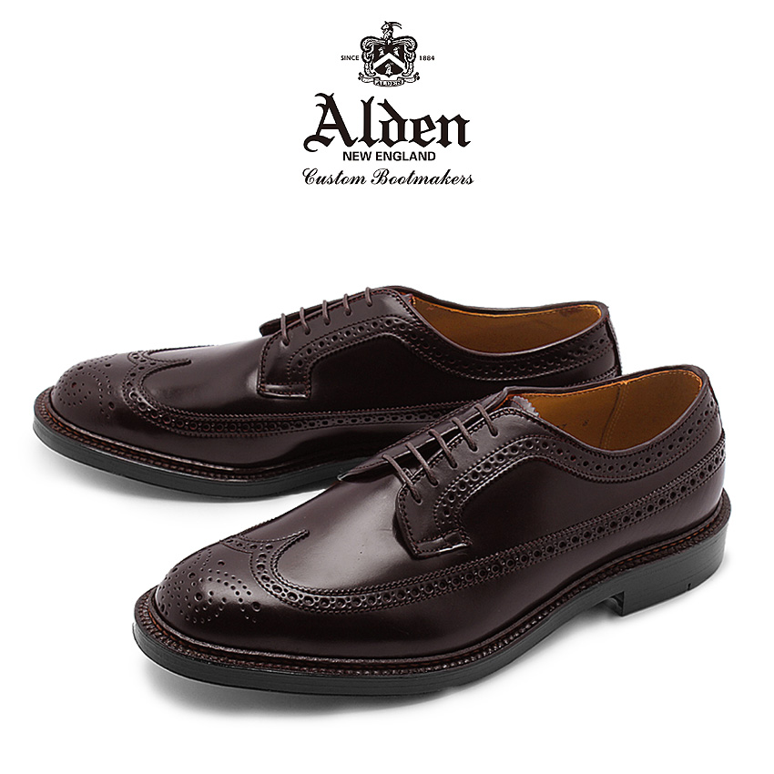 送料無料 コードバン採用 ウィングチップが上品なオールデンの紳士靴の登場 半期大決算セール中 オールデン ALDEN コードバン シューズ ロング ウィング ブルチャー オックスフォード セール特価 メンズ ウィングチップ トラディショナル ビジネス バーガンディー BLUCHER 在庫一掃売り切りセール 革靴 975 8 短靴 OXFORD LONG WING 紳士靴 フォーマル