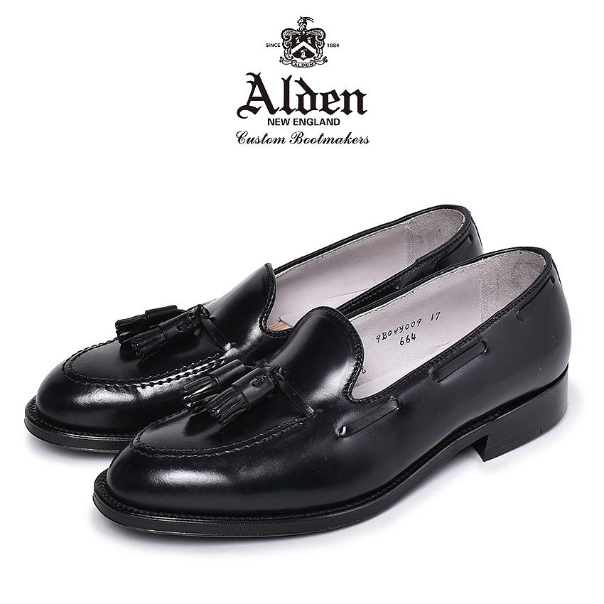 【クーポン配布!スーパーSALE】 オールデン タッセル ローファー メンズ タッセル モカシン ブラック 黒 靴 シューズ フォーマル ビジネス コードバン 通勤 通学 結婚式 冠婚葬祭 革靴 紳士靴 アメリカントラディショナル ALDEN TASSEL MOCCASIN 664