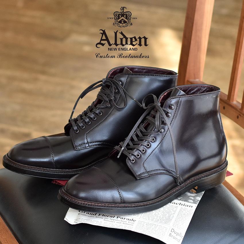 【クーポン配布!スーパーSALE】 オールデン ALDEN POLACCO CORDOVAN BOOT ドレスブーツ メンズ ブラック 黒 靴 シューズ トラディショナル ビジネス フォーマル コードバン 本革 レザー 革靴 紳士靴 通勤 会社員 大人 高級 4076H