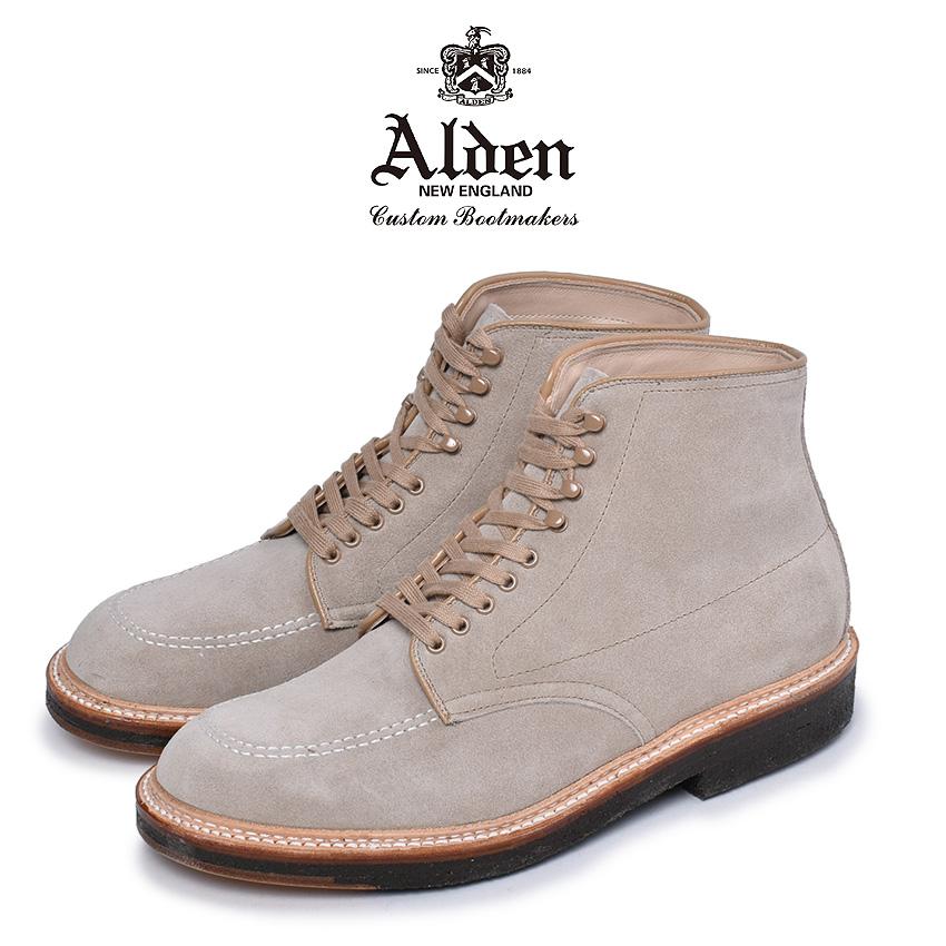 オールデン ブーツ メンズ インディーブーツ ベージュ 靴 シューズ スエード おしゃれ 人気 トラディショナル ビジネス フォーマル 革靴 靴 紳士靴 アメリカントラディショナルALDEN INDY BOOTS 40554 H
