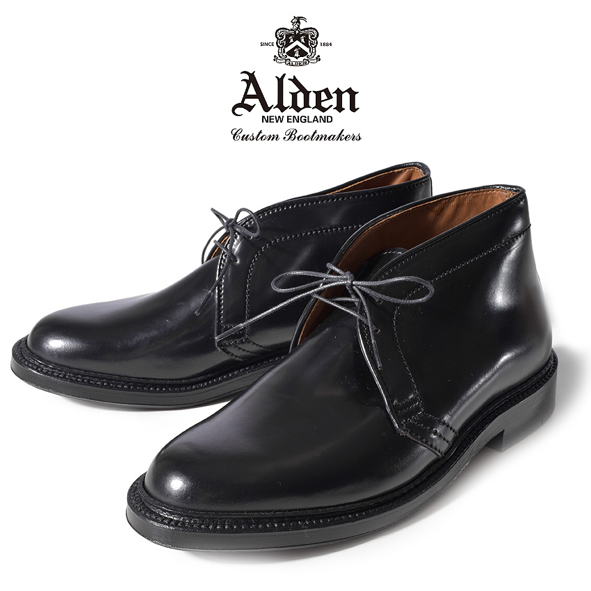 オールデン ALDEN コードバン チャッカ ブーツ メンズ ブラック 黒 CHUKKA BOOTS 1340 送料無料