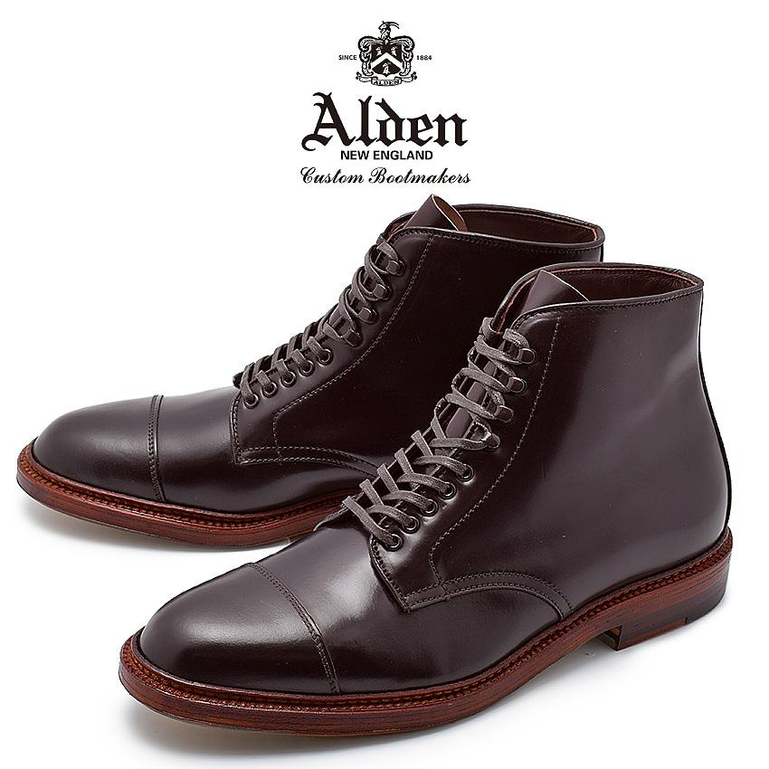 オールデン ALDEN コードバン ストレートチップ ブーツ バーガンディ メンズ ブランド シューズ トラディショナル ビジネス フォーマル バリーラスト 馬革 革靴 靴 紳士靴 茶 STRAIGHT CHIP BOOT M8804HY
