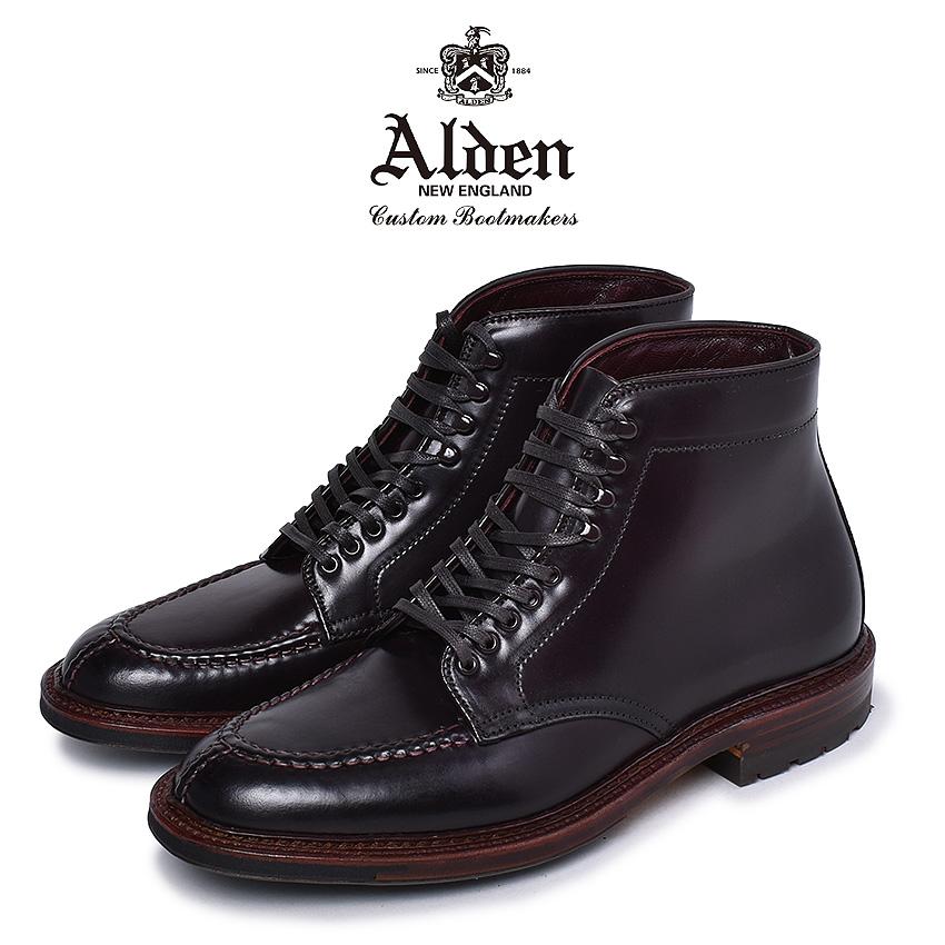 【クーポン配布!スーパーSALE】 オールデン ブーツ メンズ タンカーブーツ バーガンディ 赤 靴 シューズ コードバン おしゃれ 人気 トラディショナル ビジネス フォーマル 馬革 革靴 靴 紳士靴 アメリカントラディショナル ALDEN TANKER BOOT M6906 CY