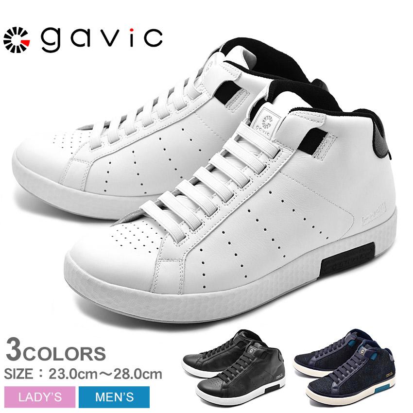 GAVIC LIFE STYLE ガビックライフスタイル スニーカー メンズ レディース ブラック ホワイト ネイビー 黒 白 青 ゼウス ミッド ZEUS MID GVC011 BLK WHT/BLK NVY 送料無料