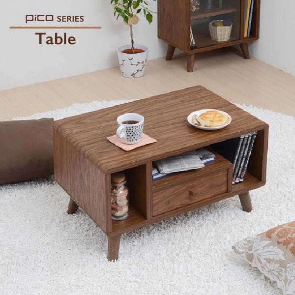 センターテーブル 60 Table Pico series ミニ テーブル ローテーブル リビング つくえ 机 子供部屋 こども キッズ 引出し 引き出し 収納 DVD 雑誌 ティッシュ リモコン コンパクト かわいい 一人暮らし 新生活 北欧 ミッドセンチュリー おしゃれ