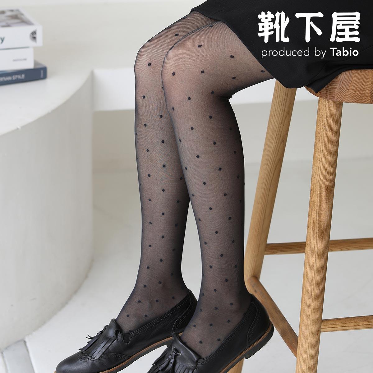 日本未発売 靴下屋 ドット柄クリアーストッキング 靴下 タビオ Tabio くつ下 ストッキング タイツ 新作入荷 あす楽 日本製 レディース