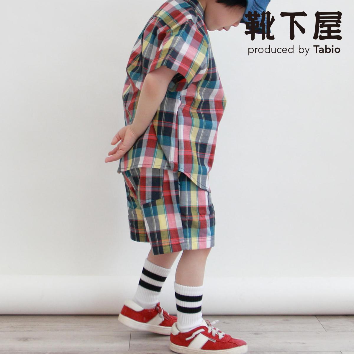 靴下屋 キッズ 2ラインショートソックス 16~18cm 靴下 即納 タビオ Tabio 日本製 ショート あす楽 子供用靴下 子供 くつ下 流行のアイテム