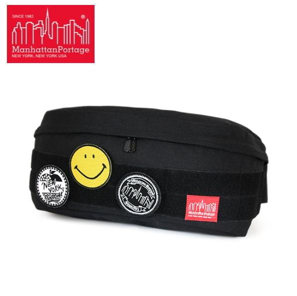マンハッタンポーテージ スマイリー・フェイス ウエストバッグ 1106 数量限定 Manhattan Portage Emblems Bag -Emblem of SMILEY FACE- Fixie Waist Bag ●【QAQA-08lphf】