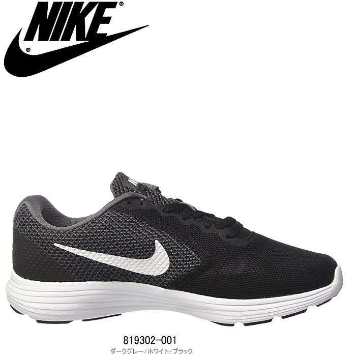 nike womens revolution 3 running shoe black
