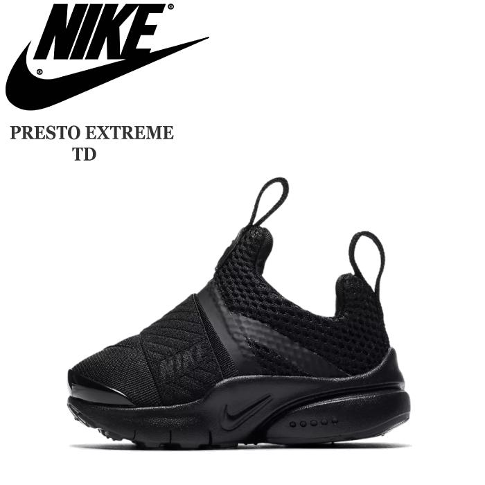 5081166bad2dd Child boy 12.0cm 13.0cm 14.0cm 15.0cm 16.0cm black black sneakers of the  woman showing cute Nike presto extreme TD baby shoes NIKE PRESTO EXTREME TD  ...
