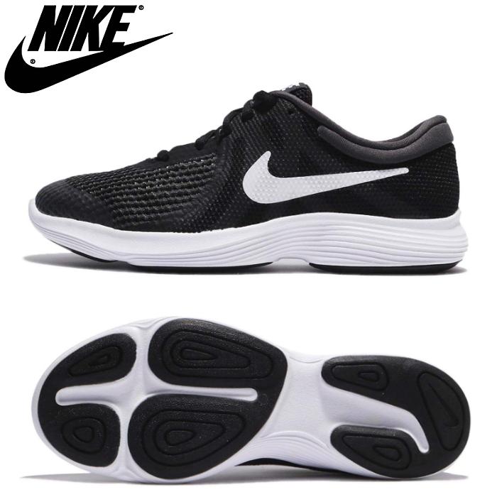 Nike revolution 4 Lady's kids running shoes sports shoes sports shoes Lady's shoes 22.5cm 23.0cm 23.5cm 24.0cm 24.5cm 25.0cm black black Nike