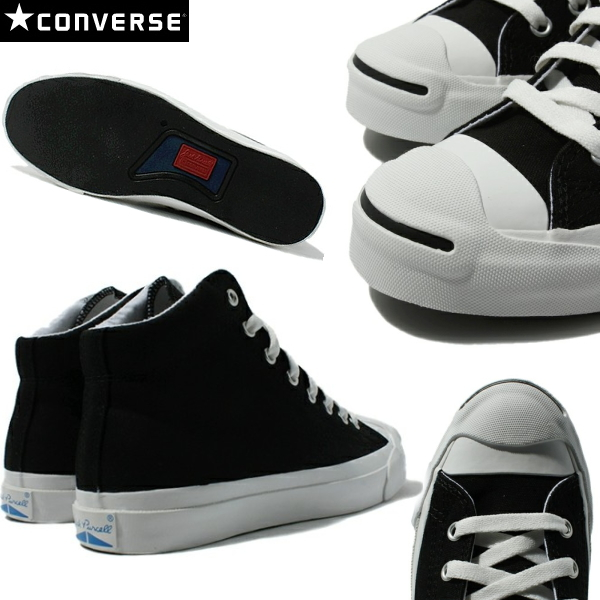 CONVERSE Converse Jack Pursel mid men gap Dis sneakers black and white CONVERSE JACK PURCELL MID ○ point 12 times