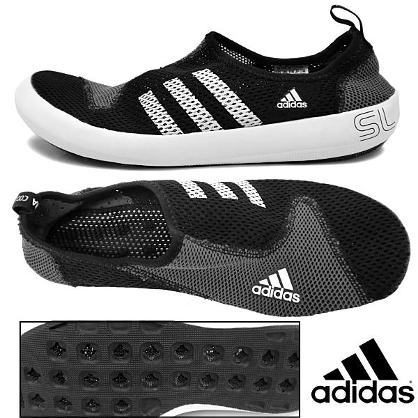 阿迪达斯运动鞋人户外水鞋adidas阿迪小船100网丝鞋V22796水陆两用men's sneaker ●