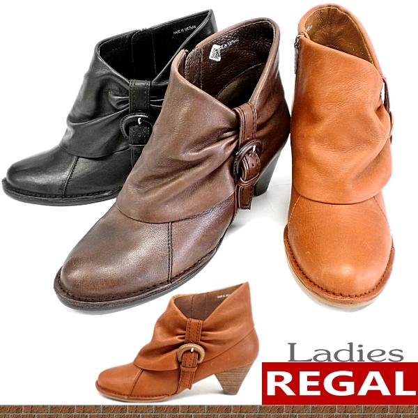 リーガル ブーツ レディース 靴 REGAL [F50A] 本革 ブーツ レディース ショート アンクル 女性 ショートブーツ おしゃれ かわいい キャメル 22.0cm ladies boots ●【MHMH-13jrnd】 【16FBoff】【RE】