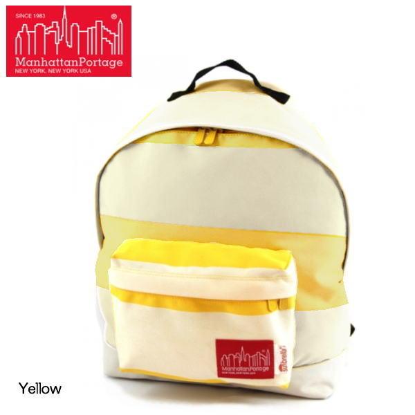 マンハッタン ポーテージ バックパック 限定モデル Manhattan Portage Sunbrella R Fabric Big Apple Backpack 1209-SUN15 リュック バッグ かばん 鞄 バックパック リュックサック a4 ナイロン カジュアル イエロー【OEOE-08lhlj】●
