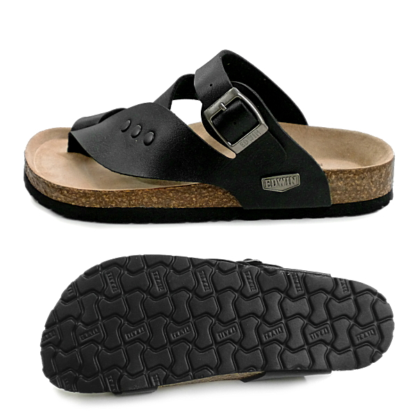 men's sandal for the Edwin sandals men tong sandals EDWIN EW9164 casual sandals man ●