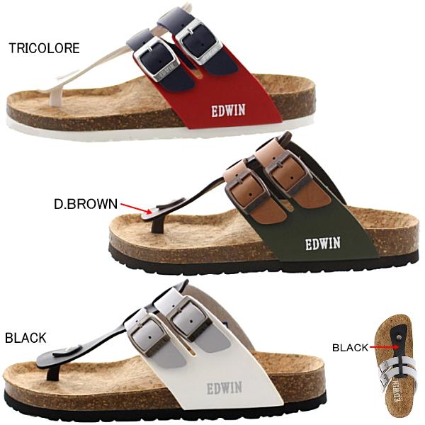 埃德温凉鞋人EDWIN EW9171休闲凉鞋舒服凉鞋钳子凉鞋●