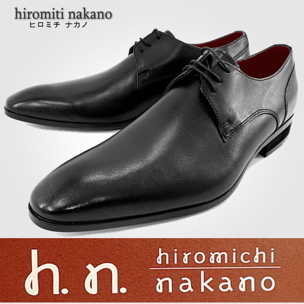 hiromichi nakano【ヒロミチ ナカノ】001HL プレーントゥ メンズビジネスシューズ 【101IJIK-13nhhd】