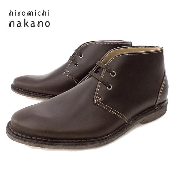 □【新製品 !】 hiromichi nakano【ヒロミチ ナカノ】010HL[DBR] 本革・メンズカジュアルシューズ 【102IKIL-13nhhd】 メンズ靴 メンズ カジュアル シューズ おしゃれ ダークブラウン 27.0cm 革靴 革