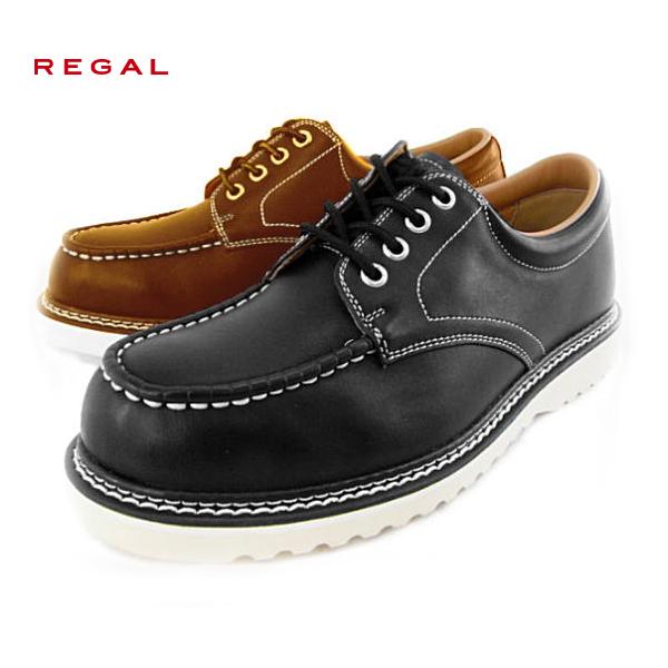●【小さいサイズ】 REGAL [リーガル] 462R AE ローカットワーク・モカシン メンズカジュアル【23.5cm/24.0cm】【102HJHJ-13flc】462R AEローカットワーク プレーン メンズ カジュアル リーガル 靴 メンズ