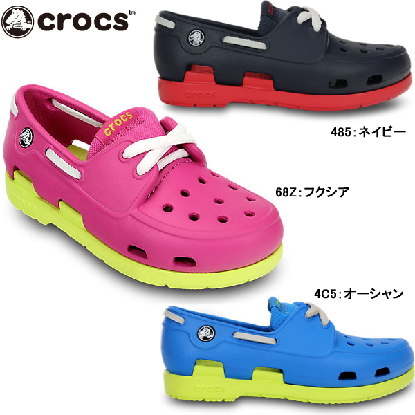 钟表小孩婴儿crocs beach line boat shoe kids c 14404海滩线小船徐小孩鞋男人的子女的孩子凉鞋甲板鞋鞋kids crog sandal●