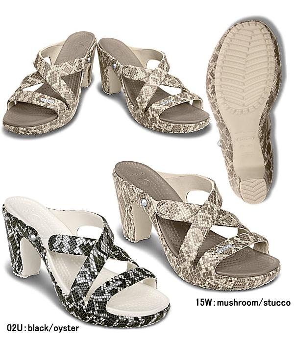 钟表犀牛加4.0蛇模式鞋跟妇女14751 cyprus 4.0 snake pattern heel w女士CROCS ●