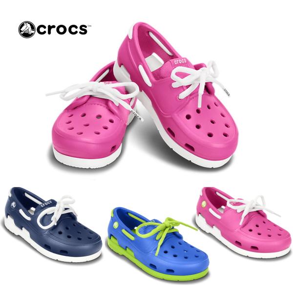 54e7c6051 Clocks kids beach line boat Shoo crocs beach line boat shoe lace PS 15915 kids  shoes sandals casual sandals ○