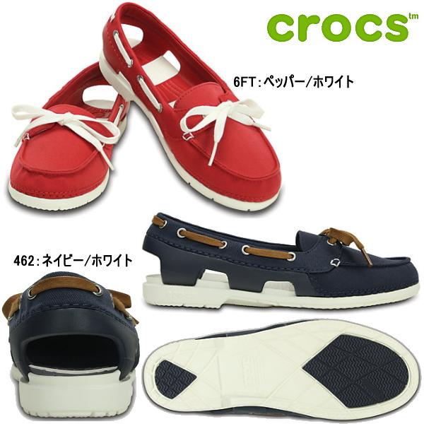钟表海滩线混合小船徐妇女200109 CROCS beach line hybrid boat shoe w女士休闲鞋●